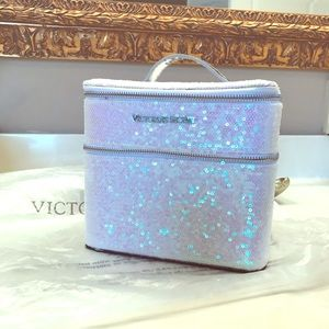 VS Fashion Show Holographic Sequin Train Case NWOT